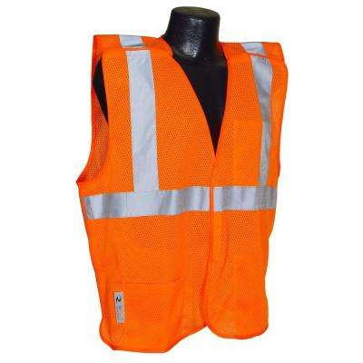 Cl 2 Orange 4x Mesh Breakaway Safety Vest