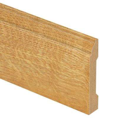 Natural Oak 9/16 in. Thick x 3-1/4 in. Wide x 94 in. Length Laminate Base Molding