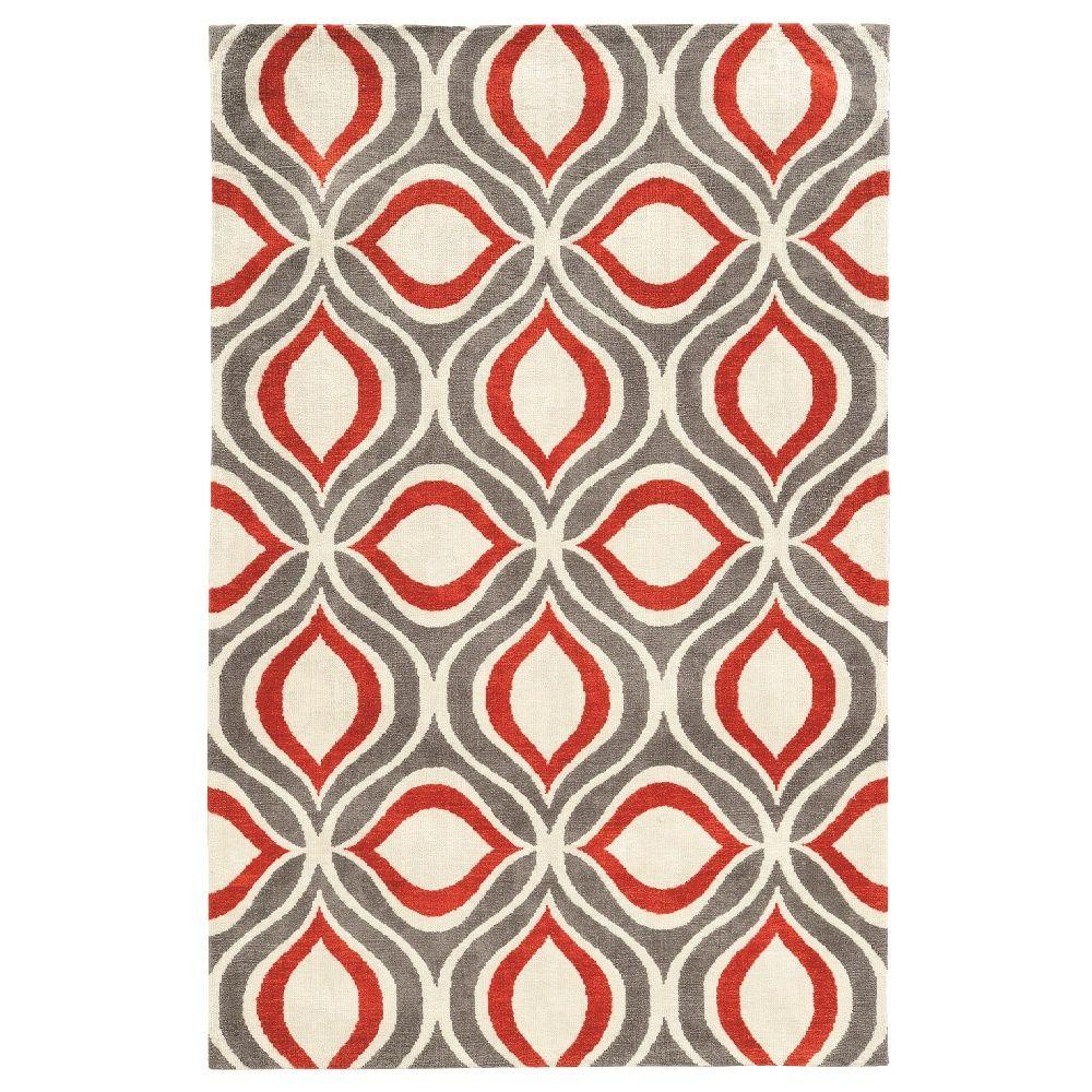 Geo Grey 8 ft. x 10 ft. Indoor Area Rug
