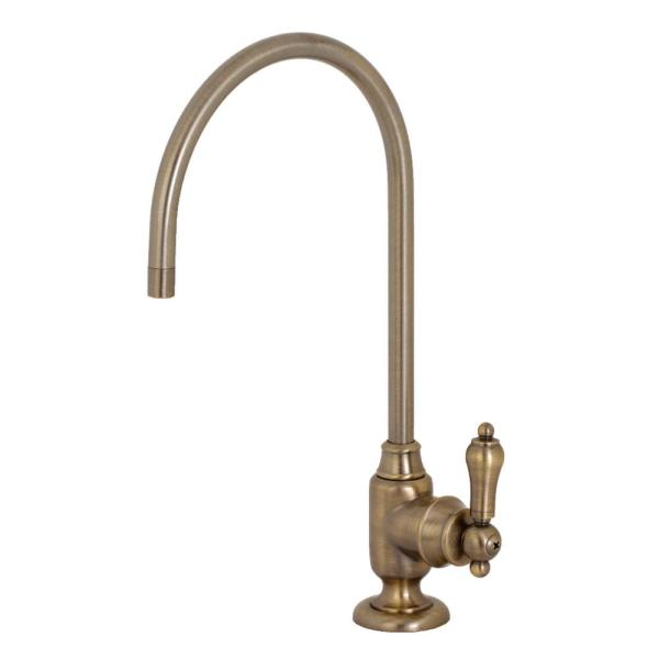 Replacement Drinking Water Single-Handle Beverage Faucet in Antique Brass for Filtration Systems