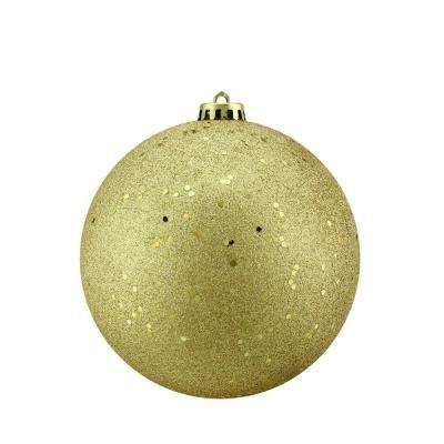 Gold Glamour Holographic Glitter Shatterproof Christmas Ball Ornament