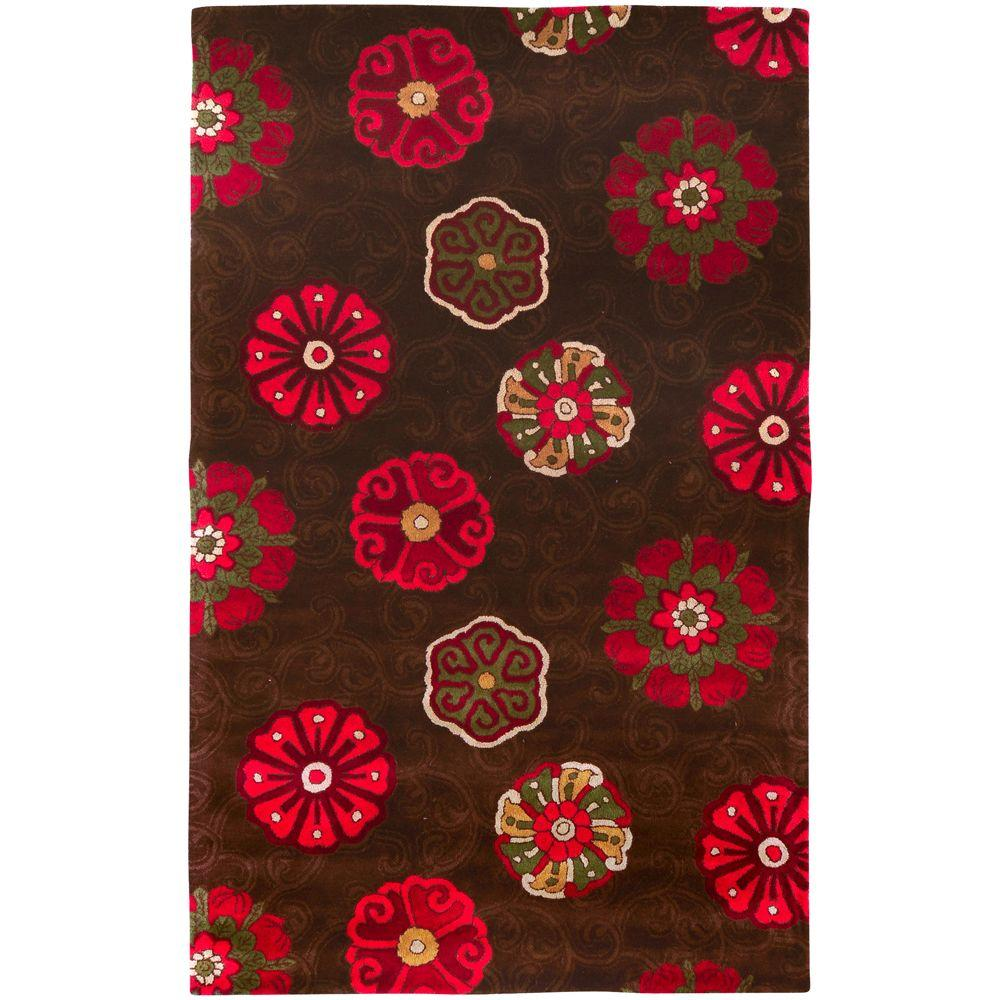 Surya Smithsonian Chocolate 3 ft. 3 in. x 5 ft. 3 in. Area Rug