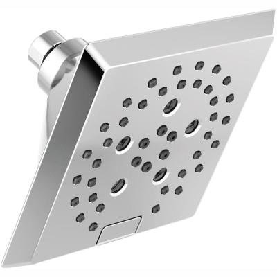 Pivotal 5-Spray 5.8 in. Single Wall Mount Fixed Rain H2Okinetic Shower Head in Chrome