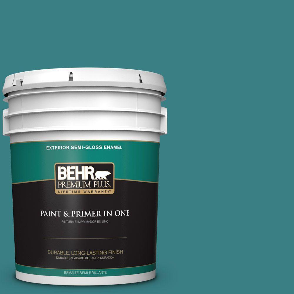 5-gal. #510D-7 Pacific Sea Teal Semi-Gloss Enamel Exterior Paint