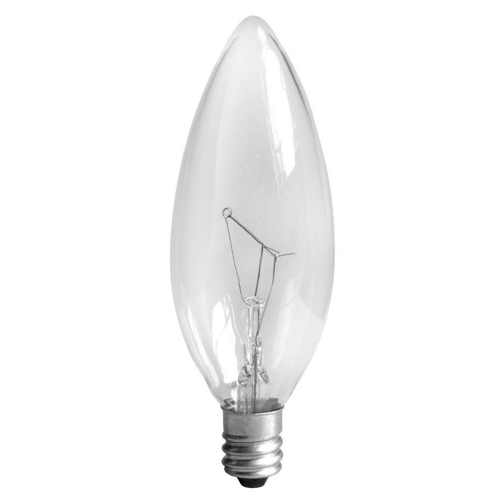 GE 40-Watt Incandescent B8 Clear Ceiling Fan Light Bulb (2-Pack) - GE 40-Watt Incandescent B8 Clear Ceiling Fan Light Bulb (2-Pack