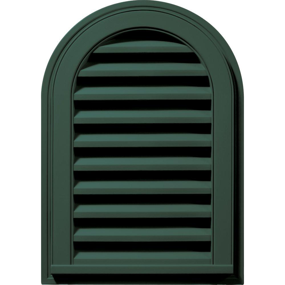 14 in. x 22 in. Round Top Gable Vent in Forest