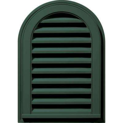 14 in. x 22 in. Round Top Gable Vent in Forest Green