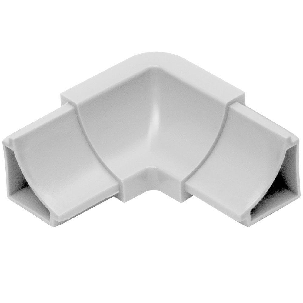 Dilex-HKW Classic Grey 1 in. x 2 in. PVC 2-Way Inside Corner
