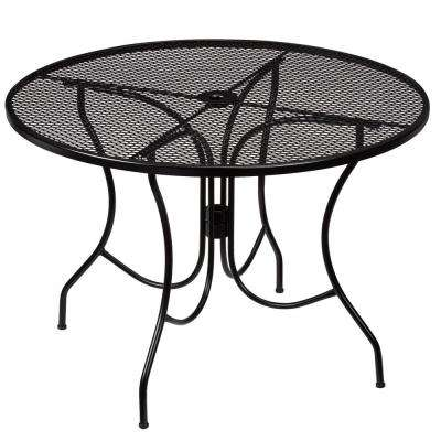 Nantucket Round Metal Outdoor Dining Table - Round - Steel - Patio Tables - Patio Furniture - The Home Depot