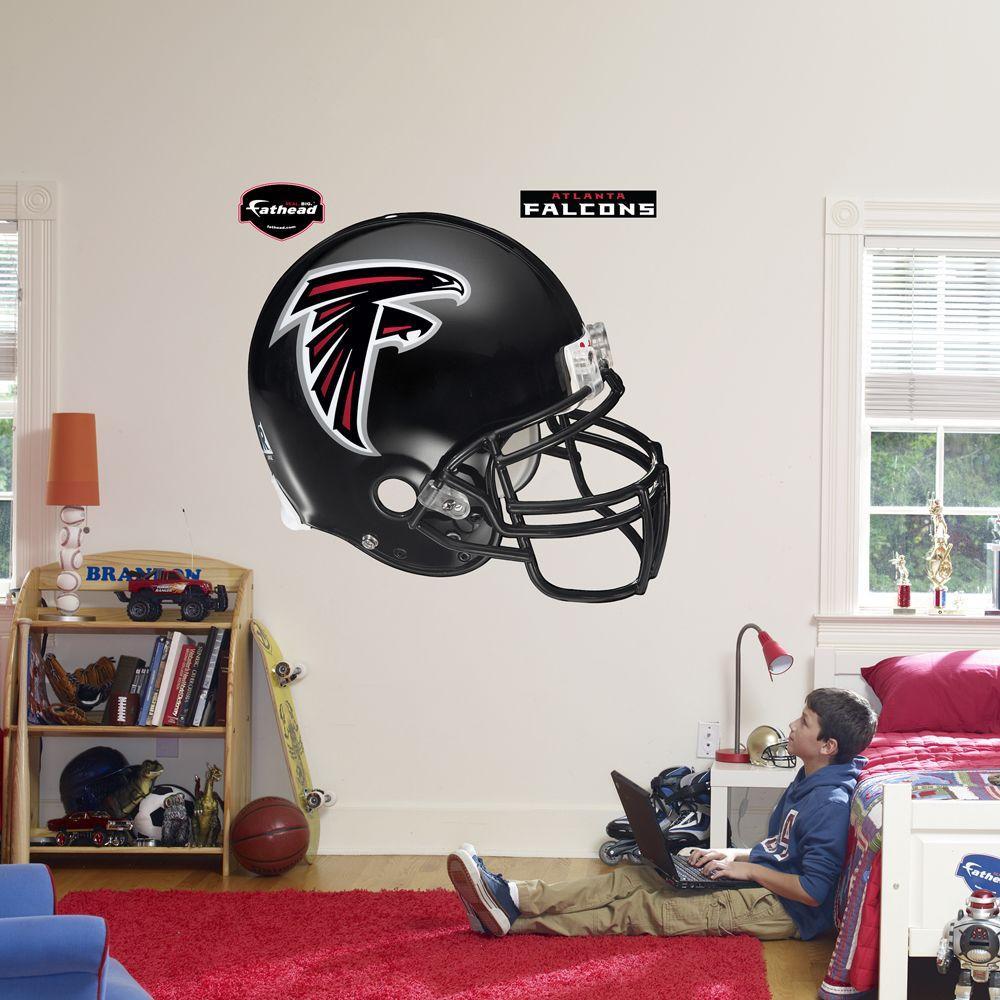 Fathead 57 in. x 51 in. Atlanta Falcons Helmet Wall Decal