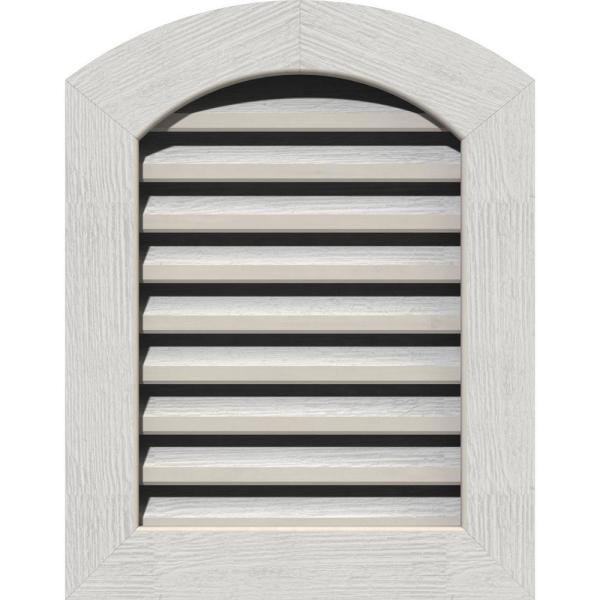 Ekena Millwork 17 X 29 Round Top Primed Rough Sawn Western Red Cedar Wood Paintable Gable Louver Vent Functional Gvwar12x2400rfpwr The Home Depot