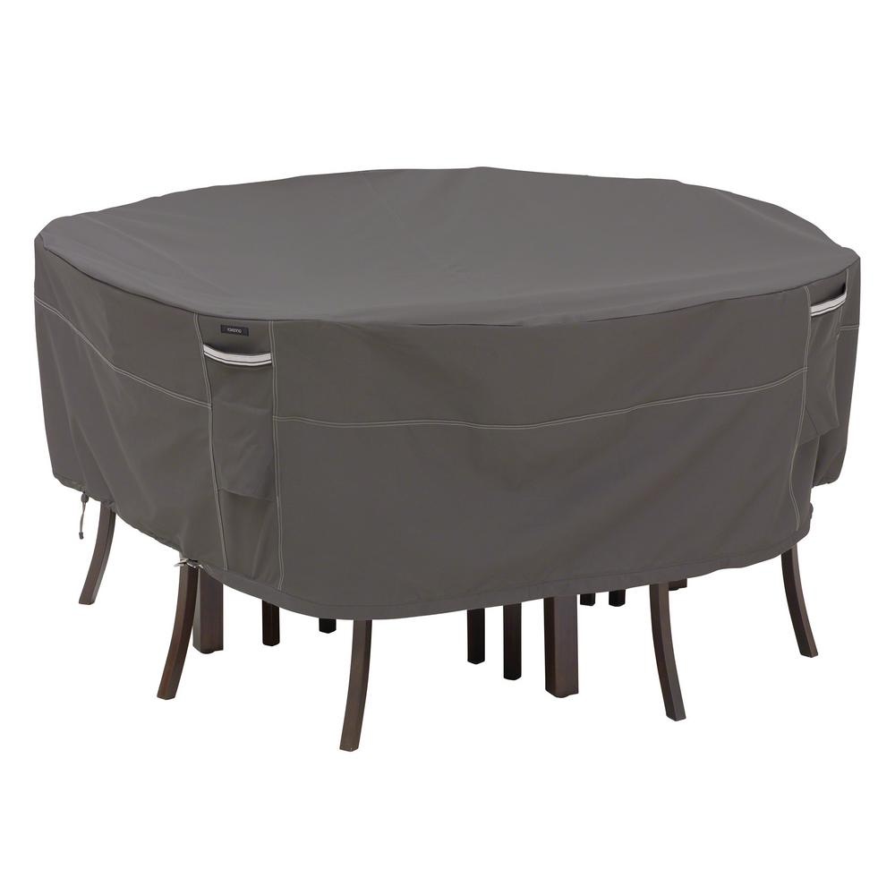 Classic Accessories Ravenna Xl Round Outdoor Table And Chairs Cover