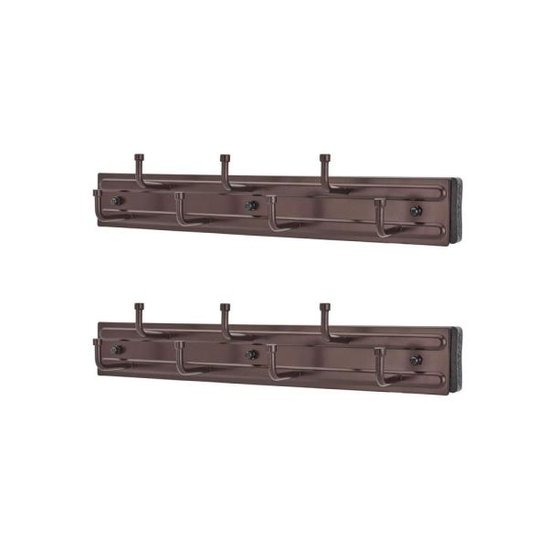 12 in. Oil Rubbed Bronze Wall Mounted Pullout Rack (2-Pack)
