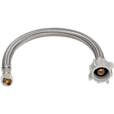 Universal Connector Kit x 12 in. Toilet Supply Line Braided Stainless Steel