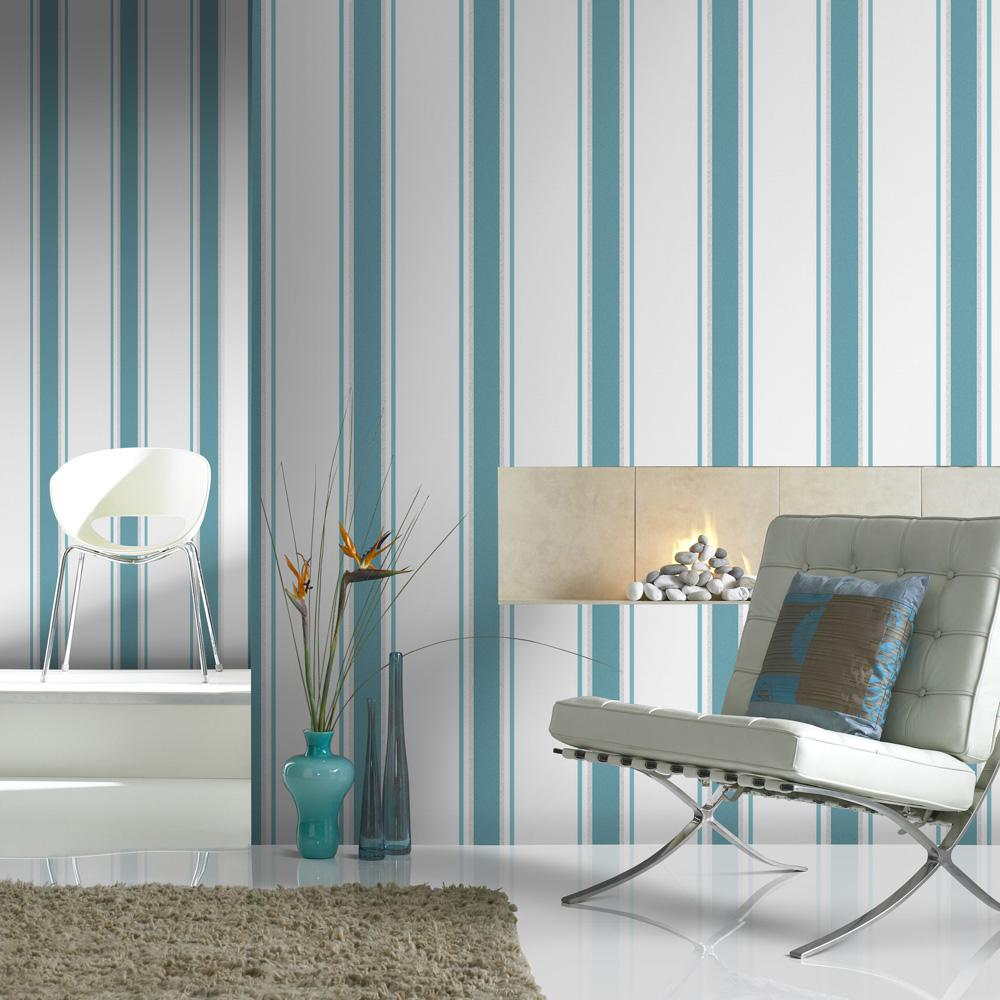 Graham & Brown Teal And Silver Orla Wallpaper-20-747