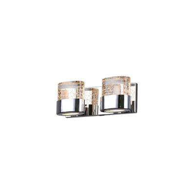 Emmanuella Collection 13 in. Chrome Sconce