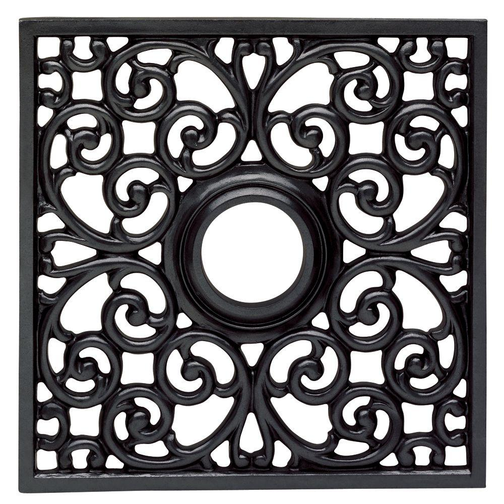 Westinghouse Square Parisian 18 in. Iron Scroll Ceiling Medallion