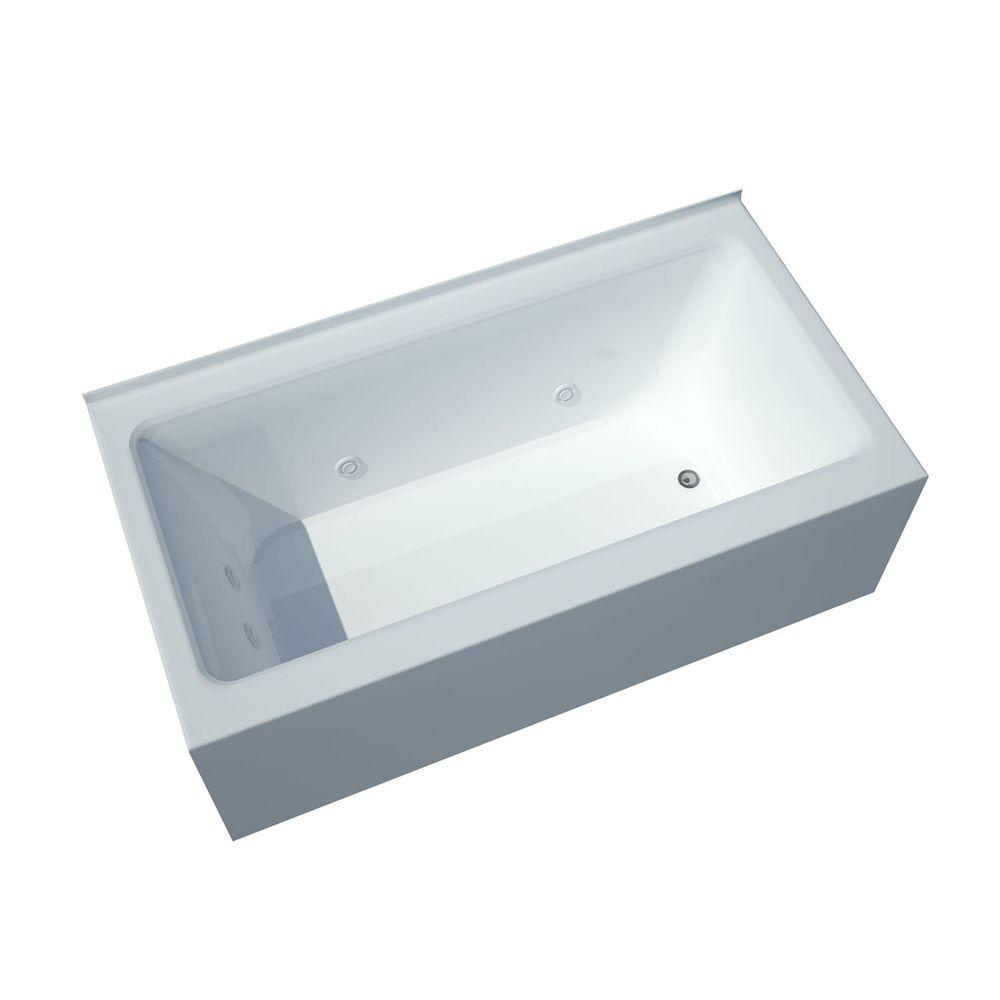 Universal Tubs Amber 5 ft. Acrylic Rectangular Drop-in Wh...