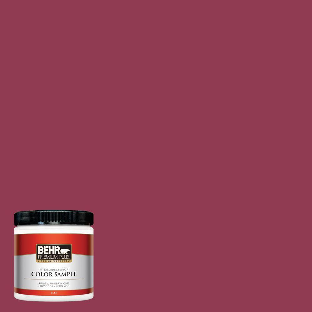 BEHR Premium Plus 8 oz. #120D-6 Cranberry Splash Interior/Exterior Paint Sample