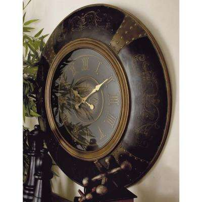 36 in. Traditional Wood and Plastic Round Wall Clock