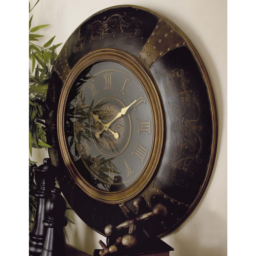 36 wall clock 22 inch litton lane 36 in traditional wood and plastic round wall clock