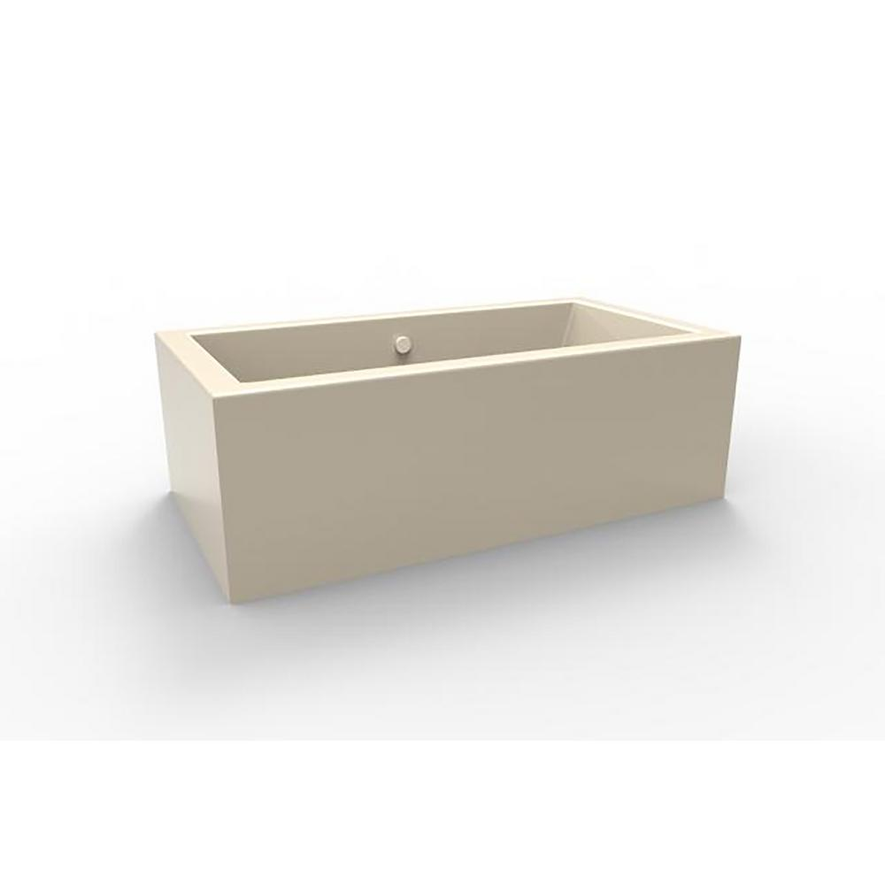 Chagall 5.5 ft. Acrylic Flat Bottom Freestanding Air Bath Bathtub in