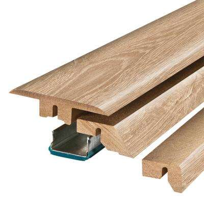 Esperanza Oak 3/4 in. Thick x 2-1/8 in. Wide x 78-3/4 in. Length Laminate 4-in-1 Molding