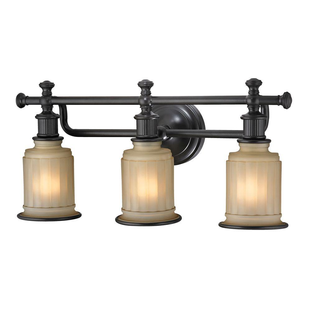 An Lighting Kildare 3 Light Oil Rubbed Bronze Bath