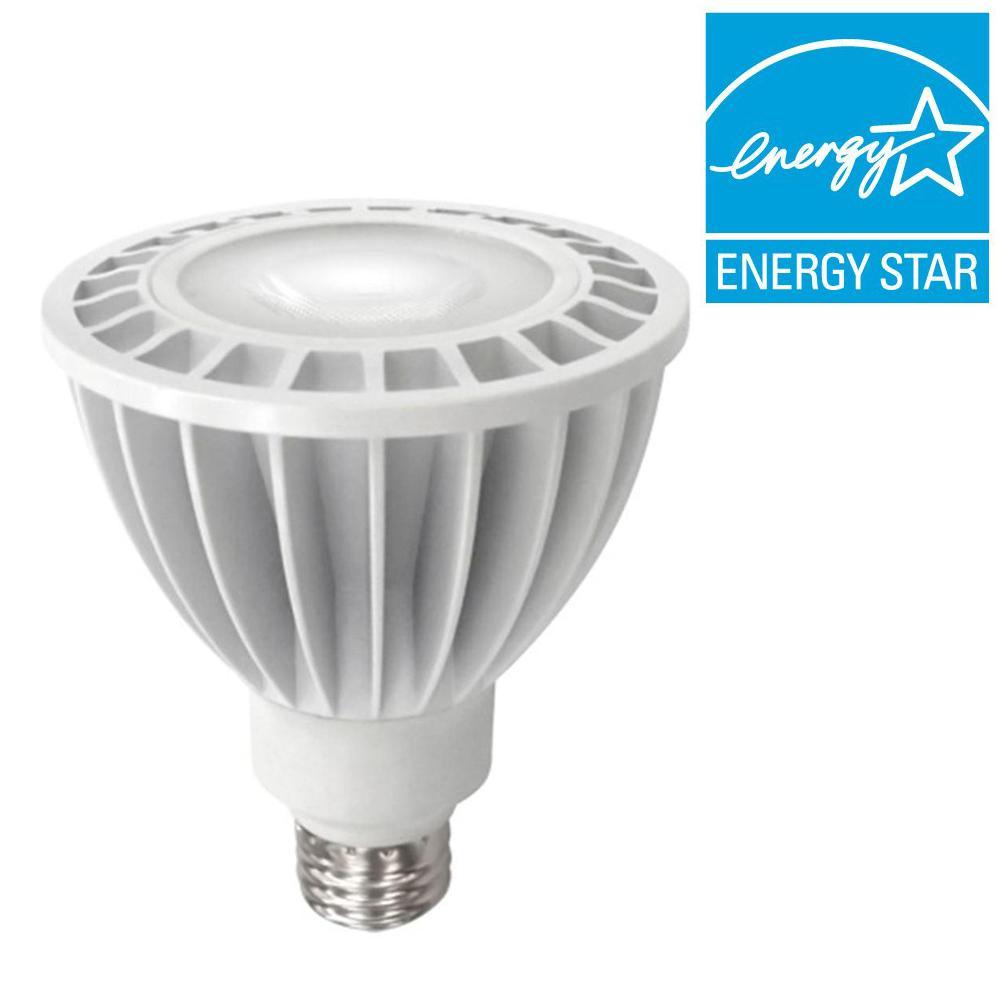 TCP 75W Equivalent Bright White (3000K) PAR30 Dimmable LED Light Bulb