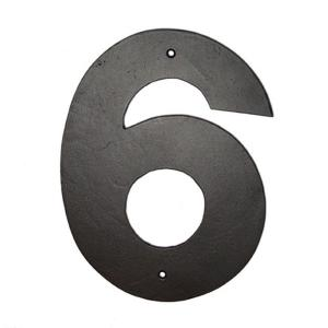 Montague Metal Products 10 inch Helvetica House Number 6 by