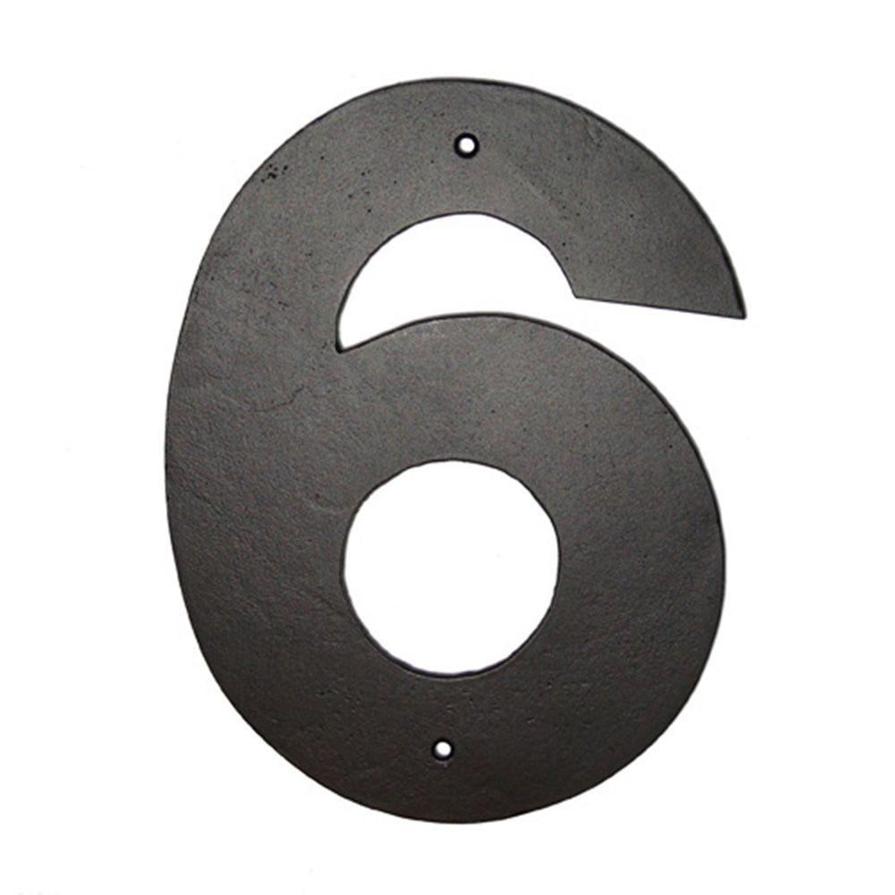 Montague Metal Products 8 In  Helvetica House Number 6