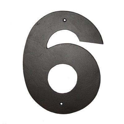 8 in. Helvetica House Number 6
