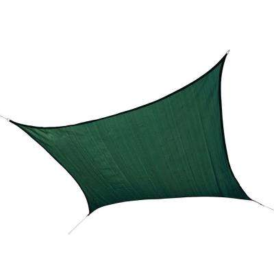 12 ft. x 12 ft. Evergreen Square Heavy Weight Sun Shade Sail (Poles Not Included)