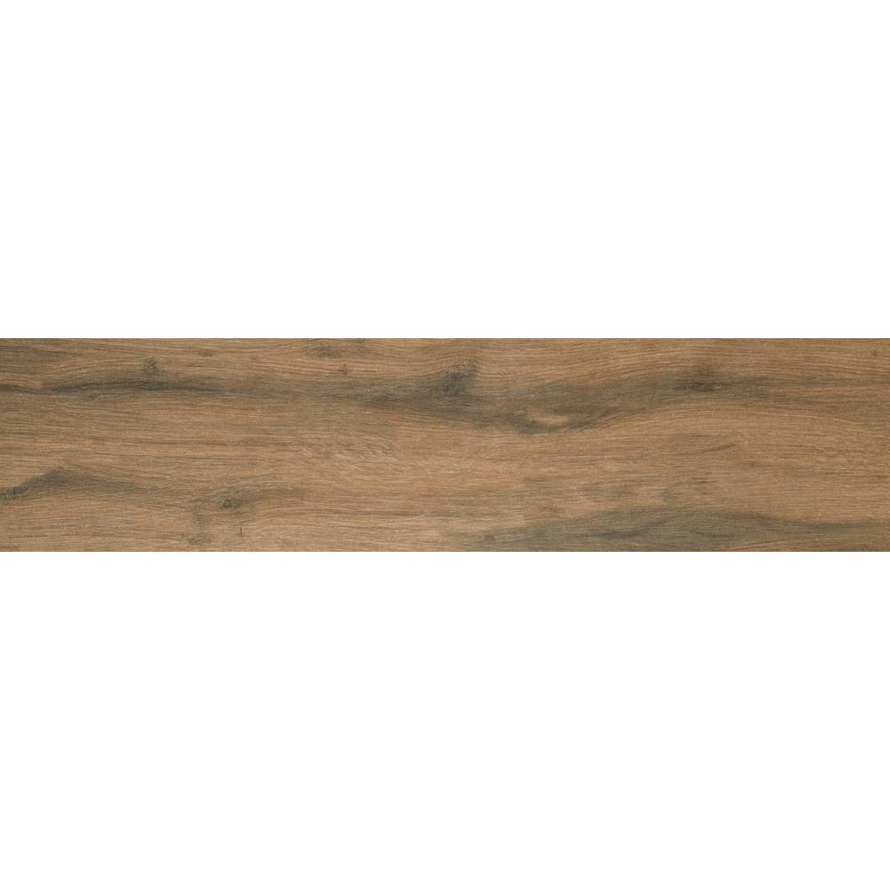 Botanica Cashew 6 in. x 36 in. Glazed Porcelain Floor and