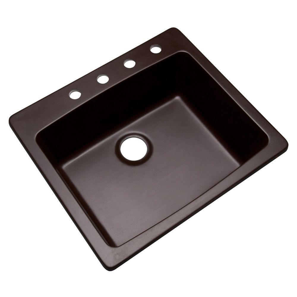 Merveilleux This Review Is From:Northbrook Drop In Composite Granite 25 In. 4 Hole  Single Bowl Kitchen Sink In Espresso