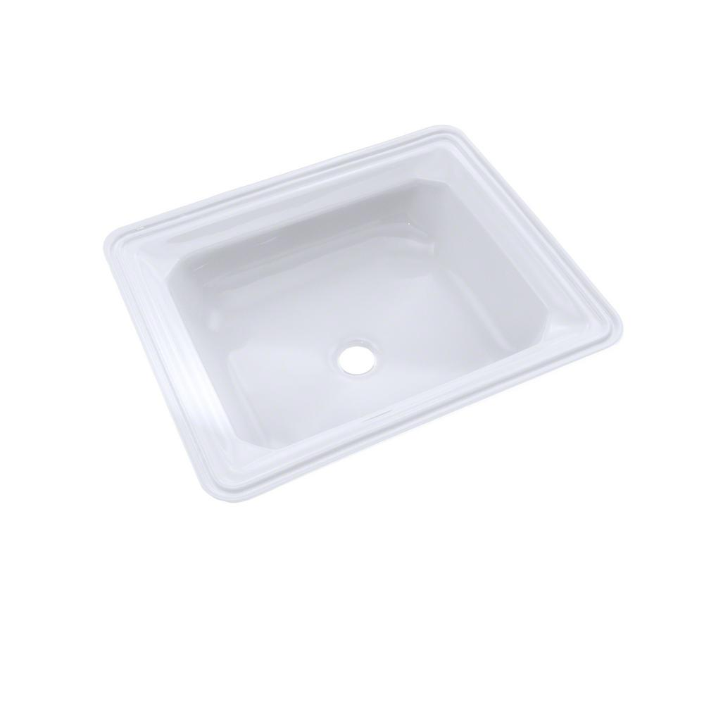 Toto Guienevere 19 In Undermount Bathroom Sink With Cefiontect In Cotton White Lt973g 01 The