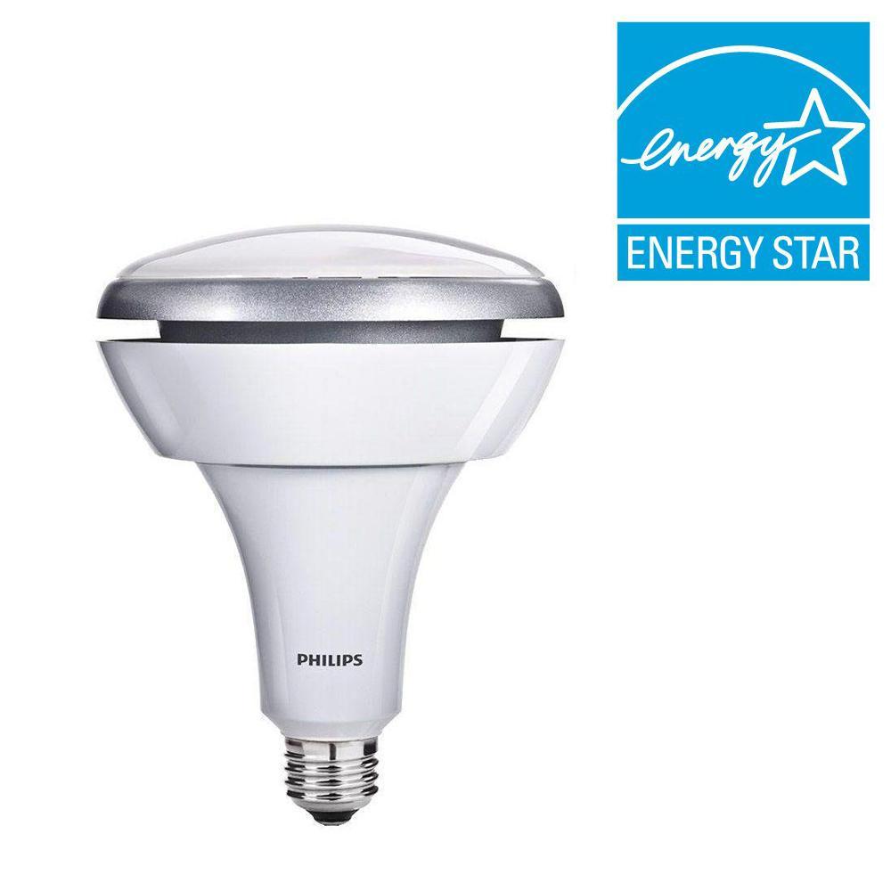 Philips 75W Equivalent Soft White (2700K) BR40 Dimmable LED Flood Light Bulb (2-Pack) (E)*
