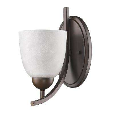 Toulouse 1-Light Oil-Rubbed Bronze Sconce with Scavo Glass Shade