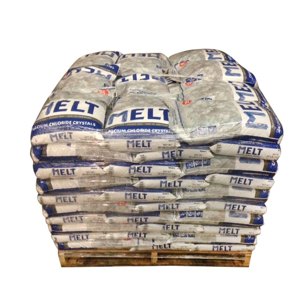 Melt 25 lb. Calcium Chloride Crystals Ice Melter (Pallet of 100
