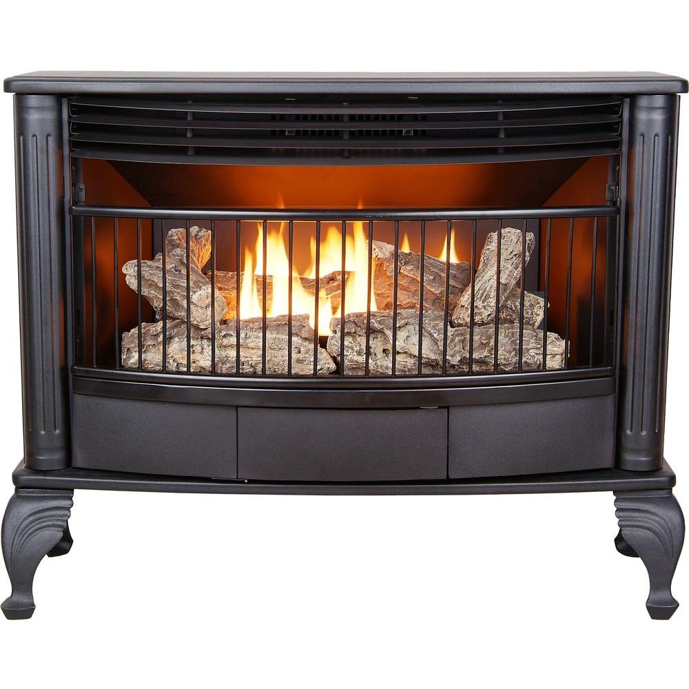 000 BTU Vent-Free Dual Fuel Gas Stove with Thermostat-VFS25NLA - The Home Depot