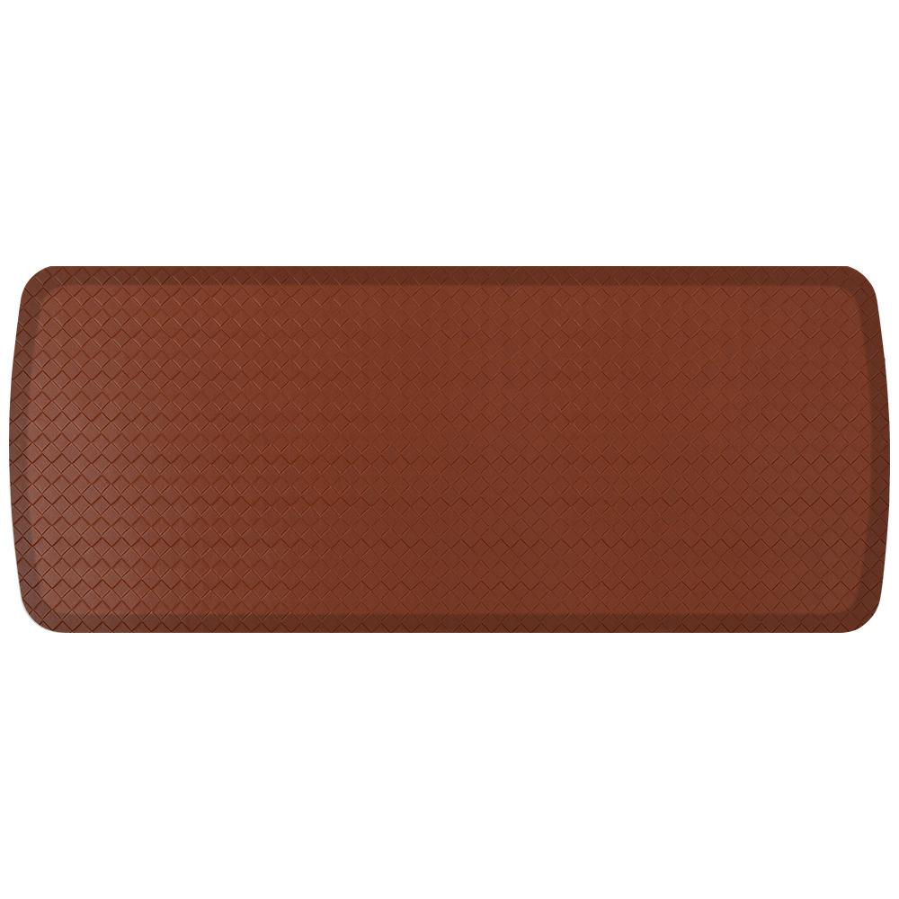 Elite Basketweave Chestnut 20 in. x 48 in. Comfort Kitchen Mat
