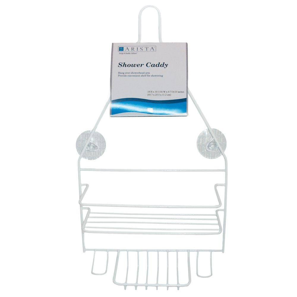 ARISTA Hanging Over-the-Shower Caddy in White