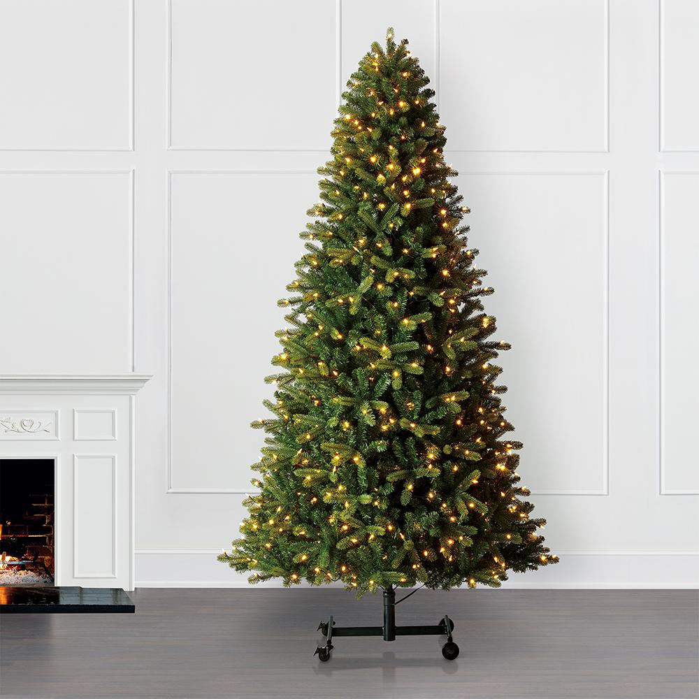 Christmas Branch Tree.Home Accents Holiday 7 Ft To 9 Ft Pre Lit Led Virginia Pine Grow And Stow Artificial Christmas Tree With 600 Color Changing Lights