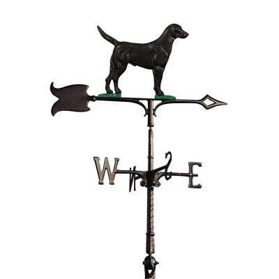 30 in. Black Lab Weathervane
