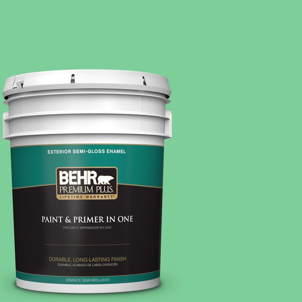 5-gal. #460B-4 Garden Glow Semi-Gloss Enamel Exterior Paint