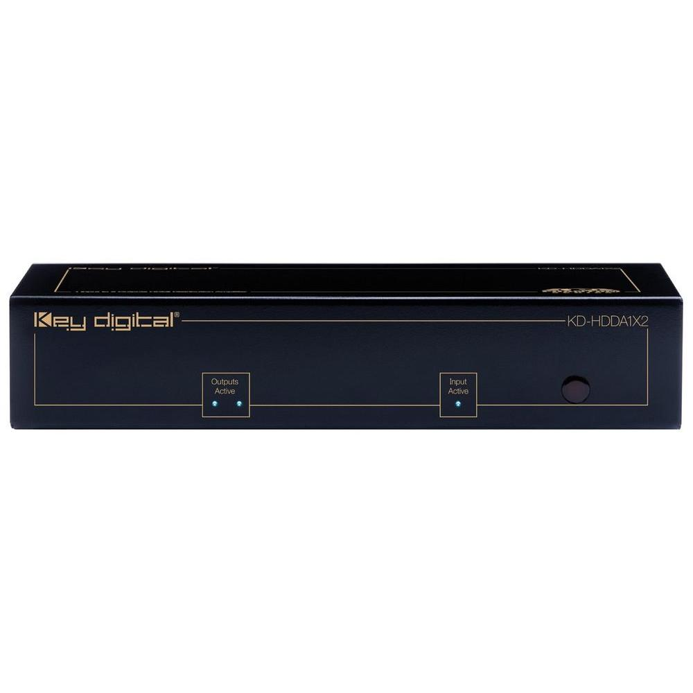 Key Digital 1 HDMI and DVI Input to 2 HDMI and DVI Outputs Distribution Amplifier-DISCONTINUED