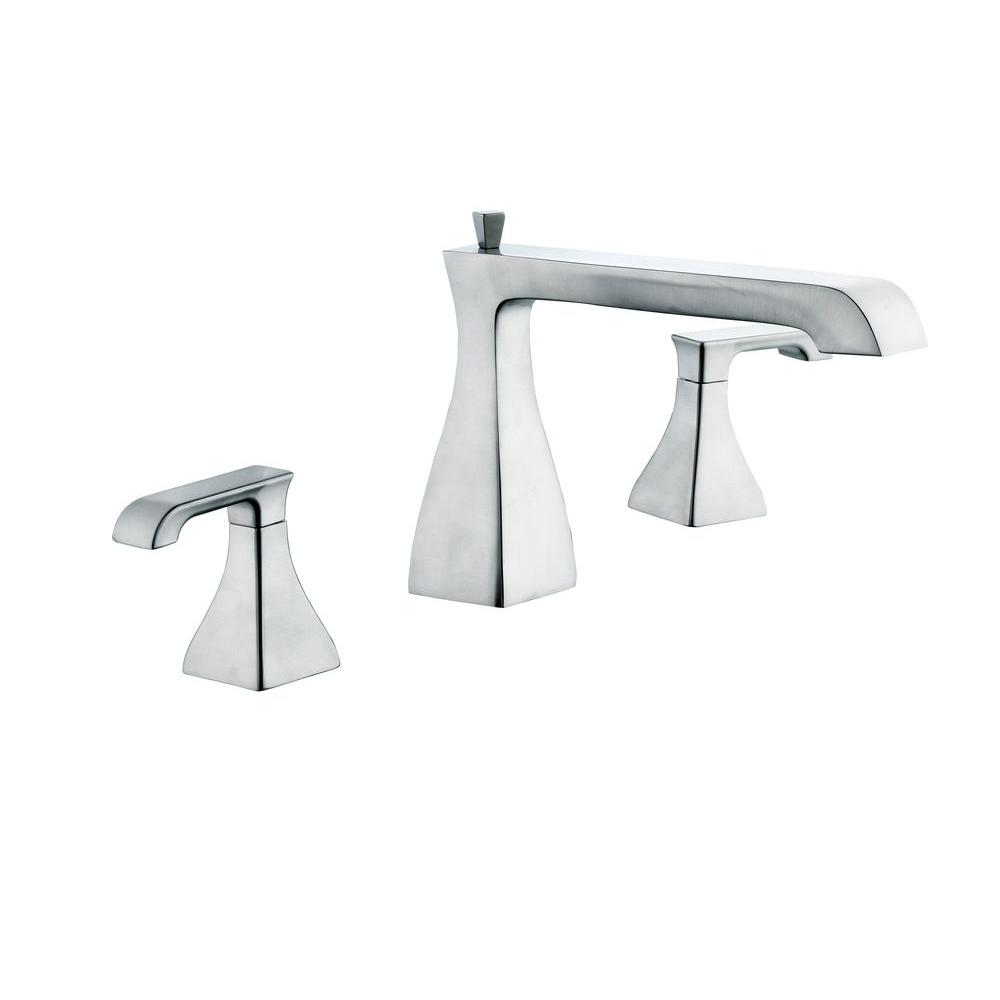 Glacier Bay Adelyn 2 Handle Deck Mount Roman Tub Faucet in Brushed  Nickel 67416 3704 The Home Depot