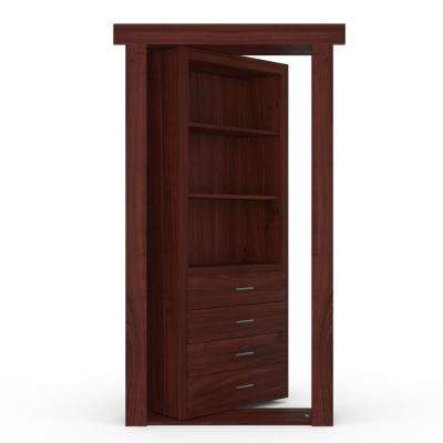 32 in. x 80 in. Flush Mount Assembled Dresser Door Cherry Cherry Stained Right-Hand Outswing