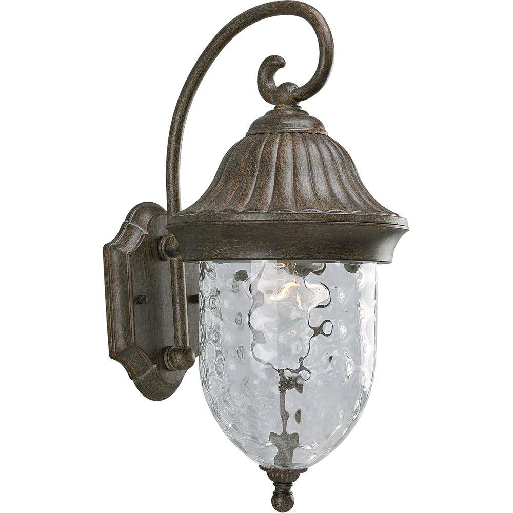Progress Lighting Coventry Collection Fieldstone 1-Light Outdoor Wall Lantern