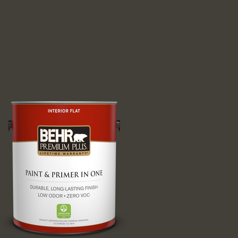 BEHR Premium Plus 1-gal. #ecc-27-3 Evening Canyon Zero VOC Flat Interior Paint